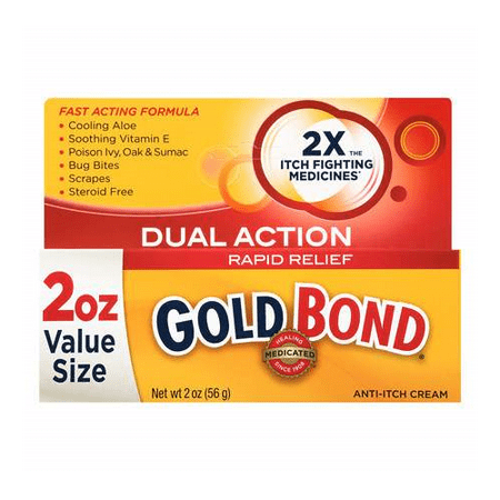 3 Pack Gold Bond Rapid Relief Dual Action Anti-Itch Cream, 2 Ounces Each