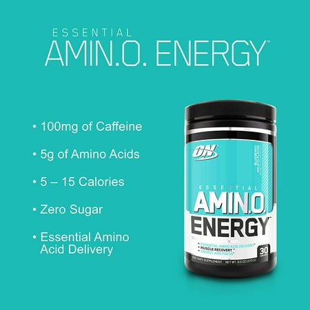 Best Optimum Nutrition Amino Energy Pre Workout + Essential Amino Acids Powder, Pineapple, 30 Servings deal
