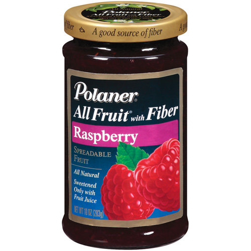 Polaner All Fruit Raspberry Fruit Spread With Fiber, 10 oz