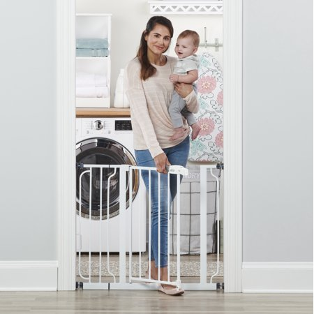 Regalo Extra Wide Easy Step Walk Thru Baby Safety Gate, 38.5