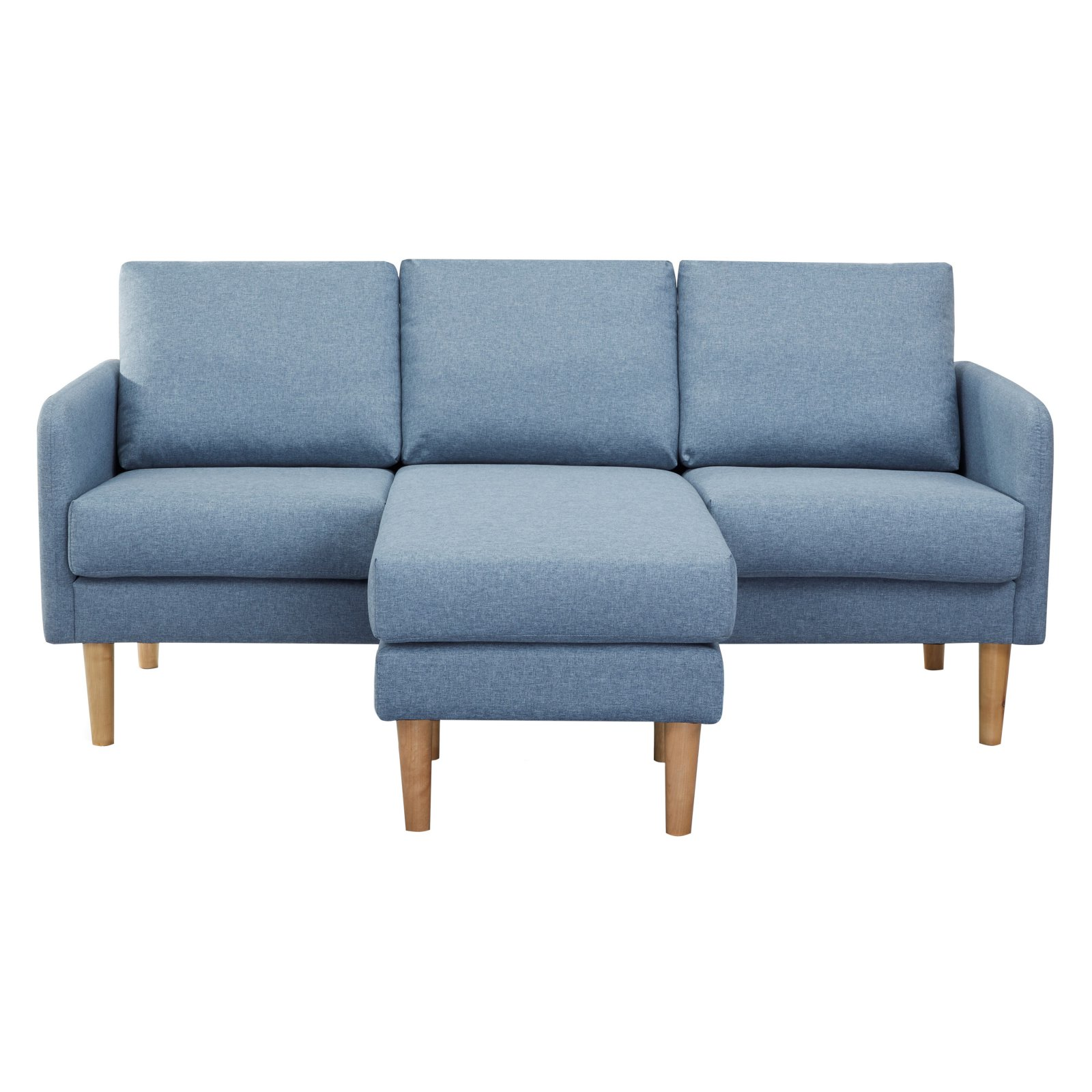 Fabulous Gold Sparrow Fernley Chambray Reversible Sectional Sofa Bralicious Painted Fabric Chair Ideas Braliciousco