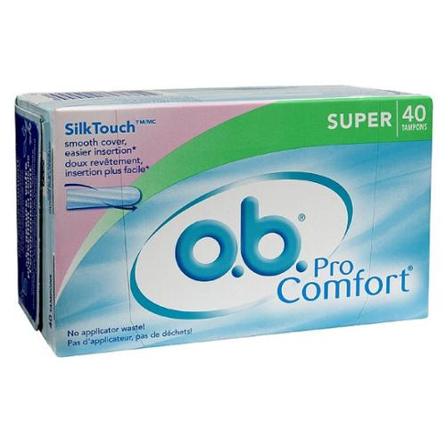 o.b. Pro Comfort Tampons, Super 40 ea (Pack of 2)