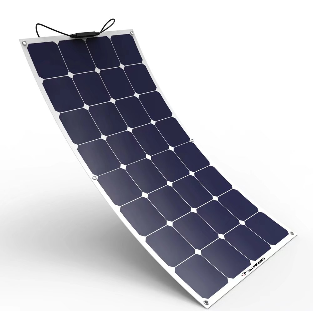 Solar Panel ALLPOWERS 18V 12V 100W Bendable SunPower Solar Panel Charger Water/ Shock/ Dust  sc 1 st  Walmart & Solar Panel ALLPOWERS 18V 12V 100W Bendable SunPower Solar Panel ...