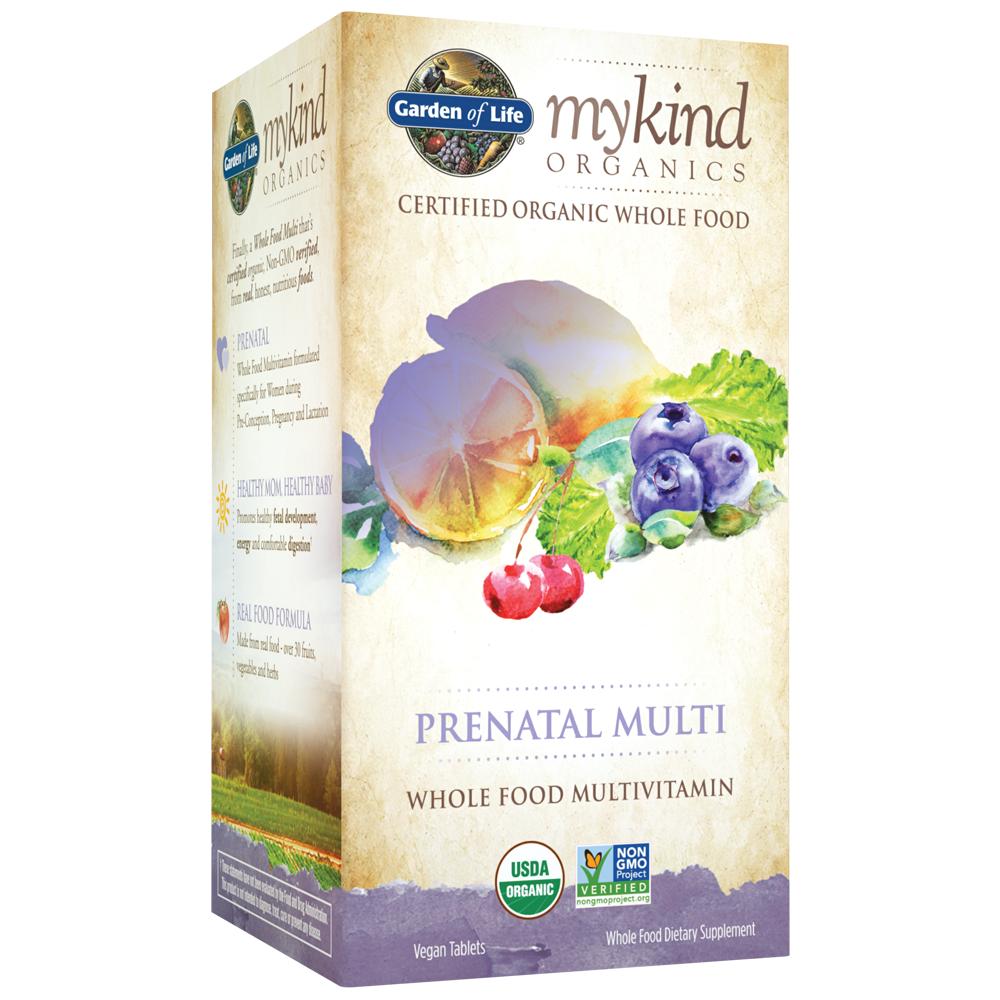 Garden of Life mykind Organics Prenatal Multi 180 Tablets