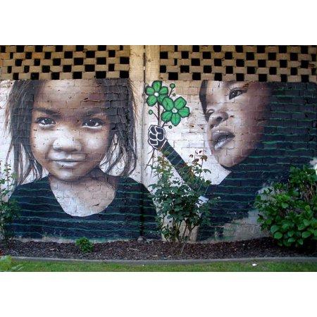 Framed Art For Your Wall Image Mural Artwork Girl Graffiti Painting Child 10x13 Frame - Artwork For Kids