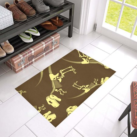MKHERT Dinosaur Bones Doormat Rug Home Decor Floor Mat Bath Mat 23.6x15.7 inch - Dinosaur Home Decor