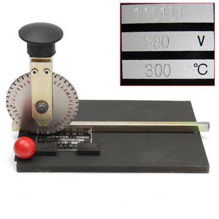 Manual Stamping Embosser Embossing Machine Metal Deboss Plate Dog Tag Printer