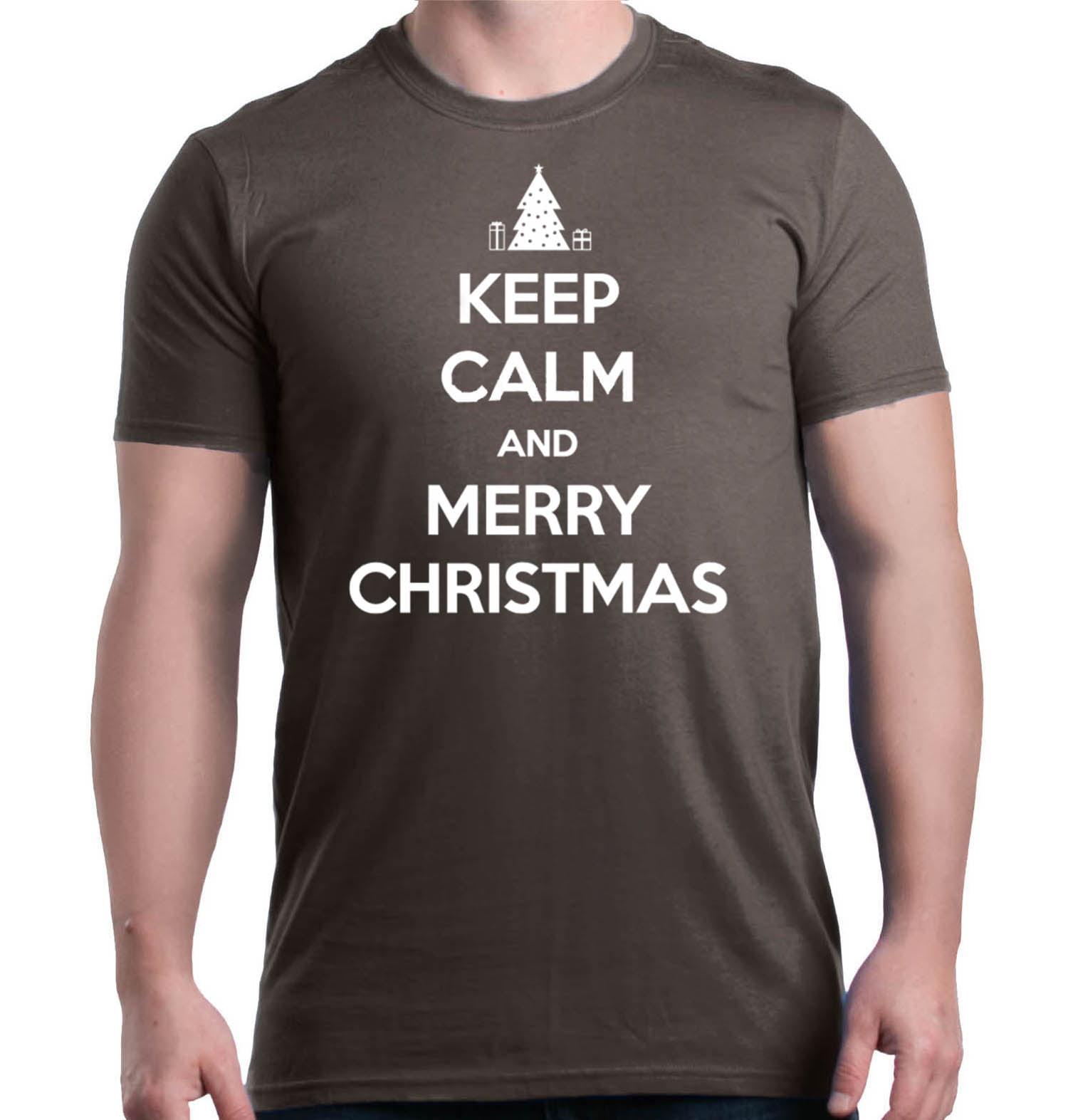 Shop4Ever - Shop4Ever Men\'s Keep Calm and Merry Christmas Holiday ...