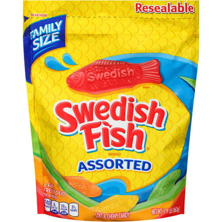 Swedish fish assorted flavors chewy candy 1 9 lb for Assorted swedish fish