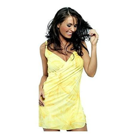 835e466552 The Saress - The Saress Beach Cover-Up - Short - X-Large - Yellow Bloom -  Walmart.com