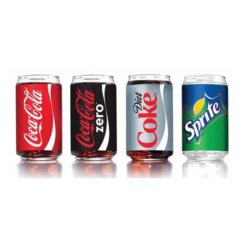 Luminarc 16 oz. Glass Coca-Cola Can 4-Piece Set