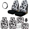 New Design Disney Mickey Mouse Car Seat Covers Floor Mats Steering Wheel Cover Accessories Set with Air Freshener
