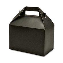 Black Gable Boxes 8 X 4-7/8 X 5-1/4   Quantity: 10 Width 4 7/8 by Paper Mart