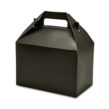 10ea - 9 X 6 X 6 Midnight Black Gable Gift Box-Pkg by Paper Mart