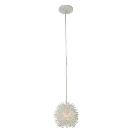 Varaluz Urchin Mini Pendant - 6.25W in. White