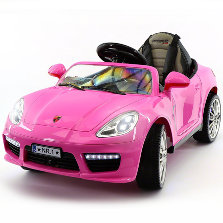 2019 Girl's Ride On Sports Kids Car 12V Battery Powered W/ Dining Table, Leather Seat, LED Lights](Kids Toy Cars)