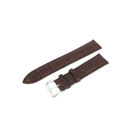Women Men Stylish Alligator Grain Faux Leather Strap Wrist Watch Band 20mm