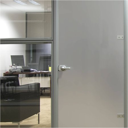 - BDF MTSIL Silver Matte Frosted Decorative Window Film 24in X 12ft by BuyDecorativeFilm
