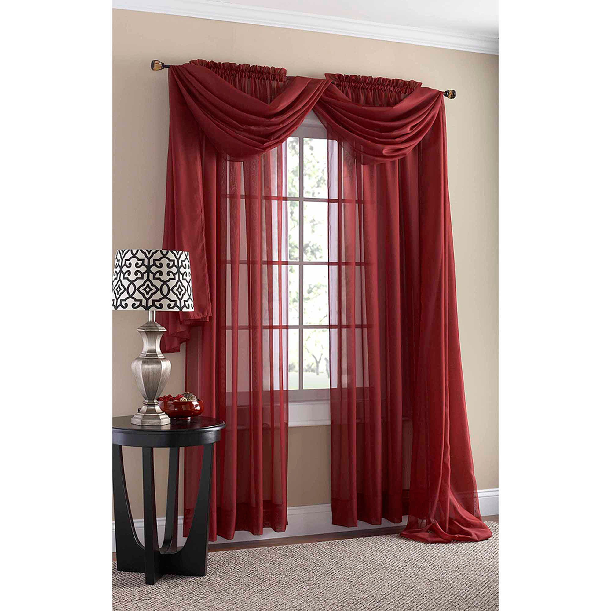 Sheer red window curtains - Sheer Red Window Curtains