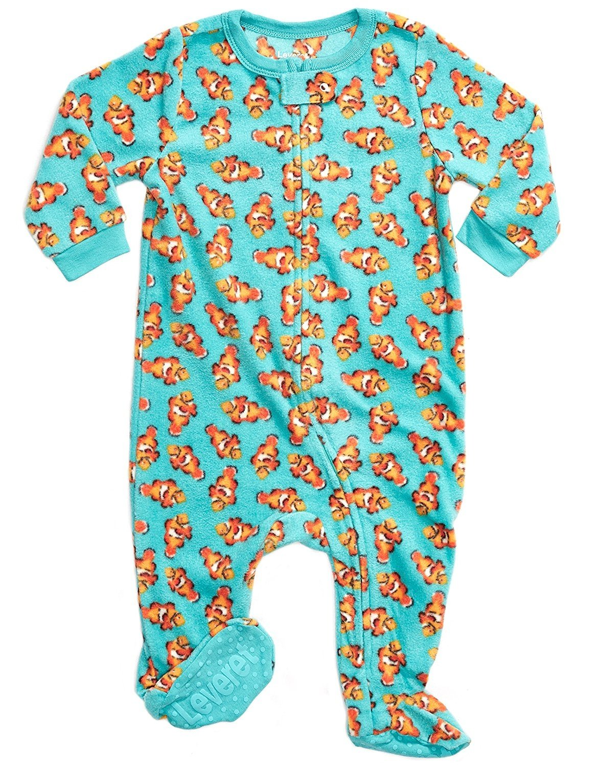 Leveret Fleece Footed Pajama Sleeper Fish 18-24 Months