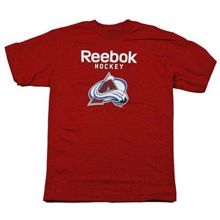 Reebok NHL Youth Boys Colorado Avalanche Short Sleeve Tee Shirt, Red