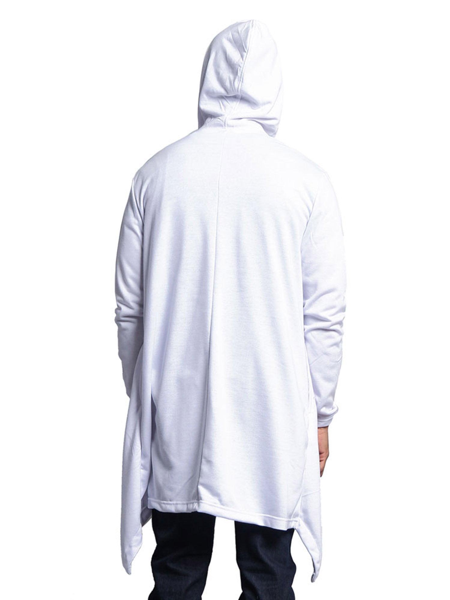Victorious Mens Long Length Cloak Cardigan Hoodie