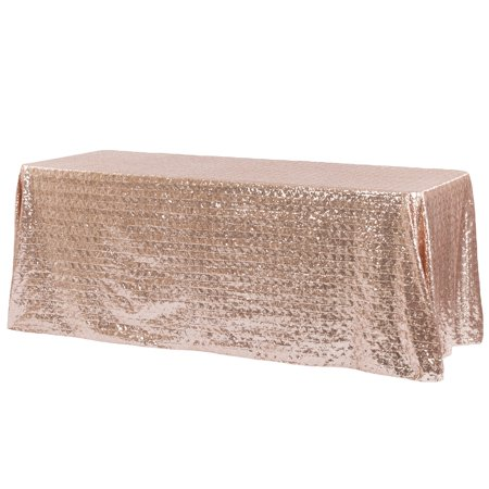 Diamond Glitz Sequin Rectangular Tablecloth 90