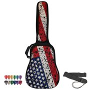 ChromaCast USA Graphic Acoustic Guitar Soft Case, Padded Gig Bag, Includes Strap & Picks