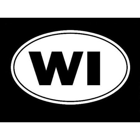 Wisconsin Badger State Tourism Logo Decal Sticker - White Vinyl Decal for Cars, Macbooks, and Other Laptops