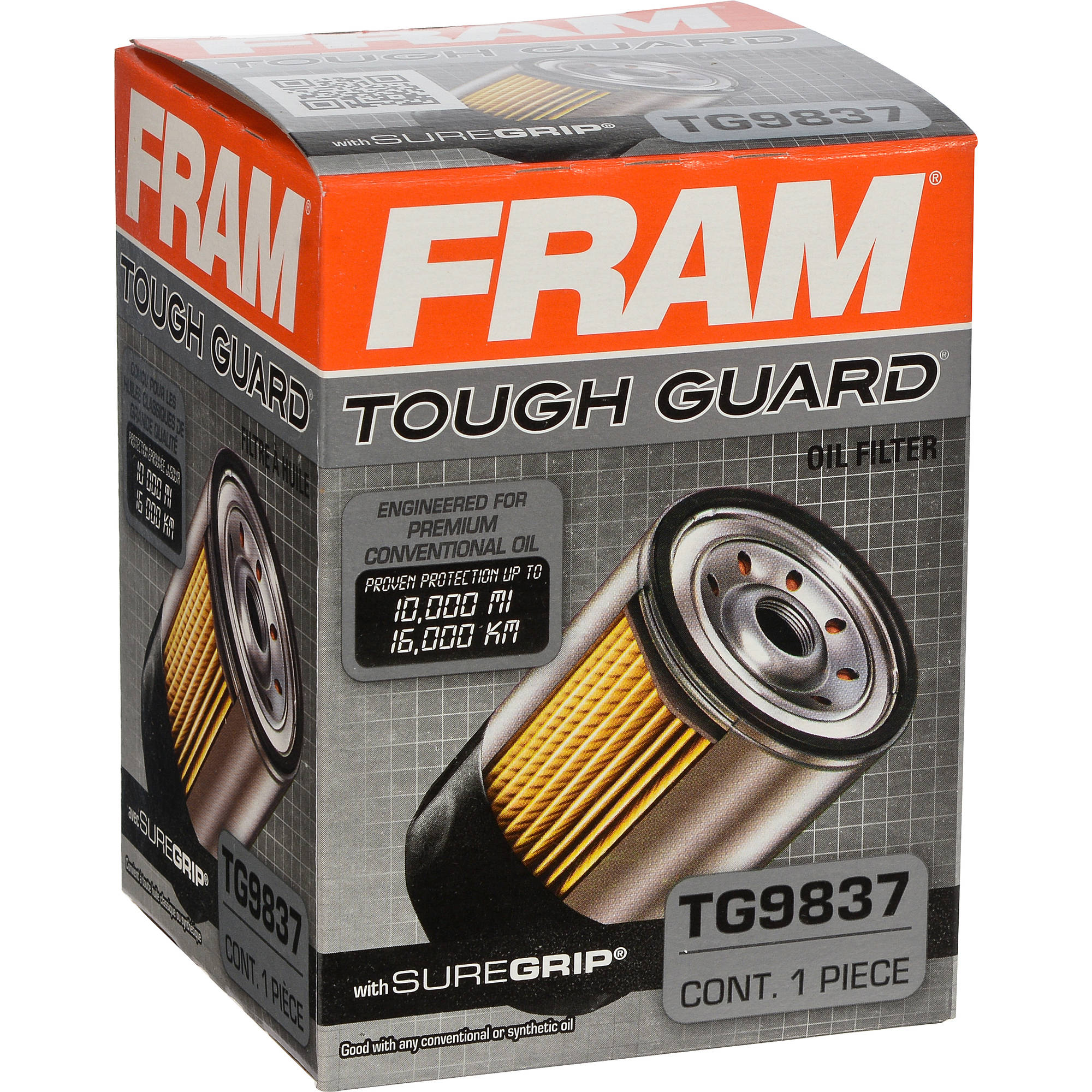 FRAM Tough Guard Oil Filter, TG9837