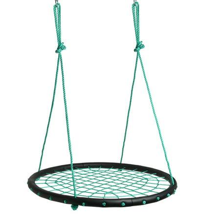 Children Web Swing Playground Platform Net Swing Nylon Rope Detachable 1M/40inch Diameter ()