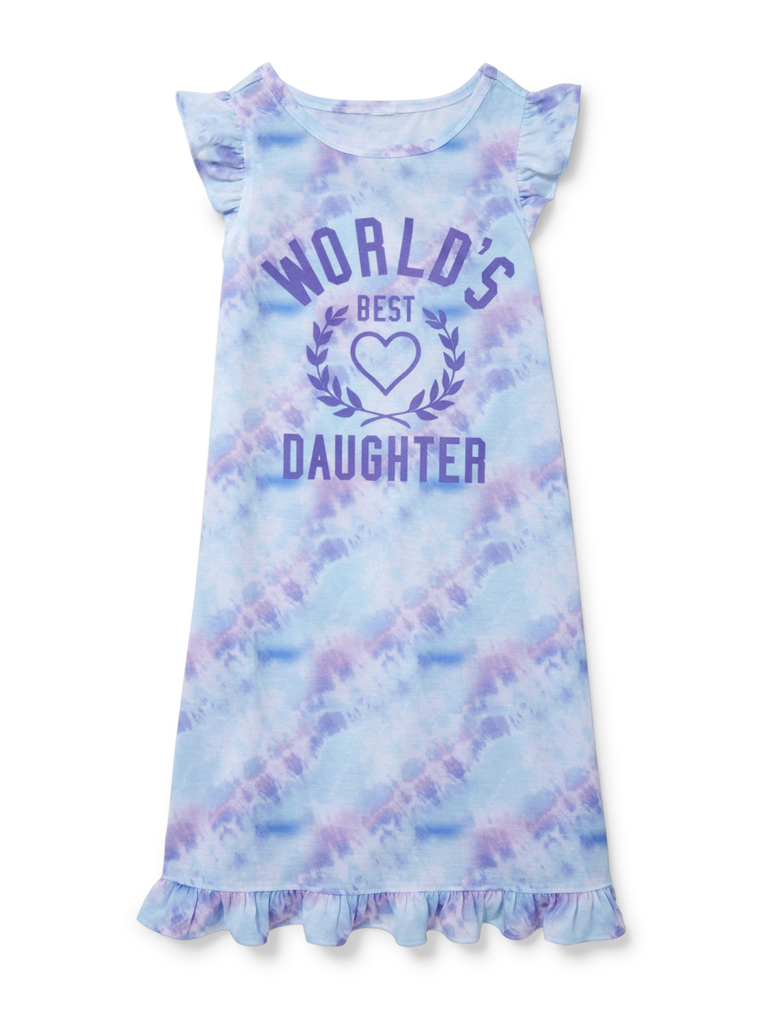 Girls' Short Sleeve 'World's Best Daughter' Pajama Nightgown (Little Girl & Big Girl)