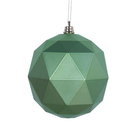 8 in. Celadon Matte Geometric Christmas Ornament Ball - image 1 of 1