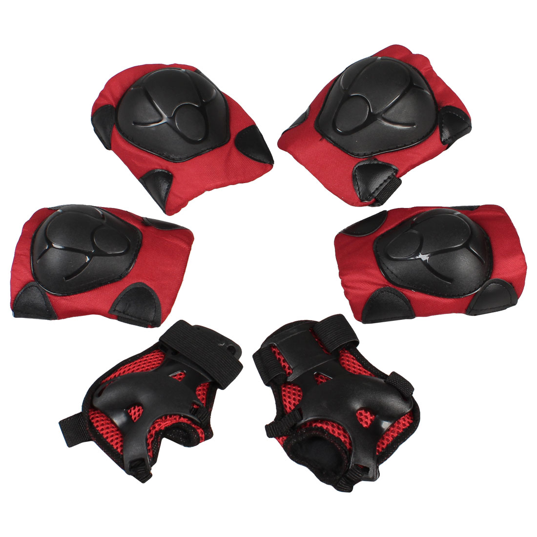 6Pcs Skateboarding Skating Wrist Guard Elbow Pads Knee Pads Safety Gear Set for Kids by