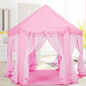 Play Tent Child Princess Castle Indoor and Outdoor Large Play House Game House Pink & Play Tent Child Princess Castle Indoor and Outdoor Large Play House ...
