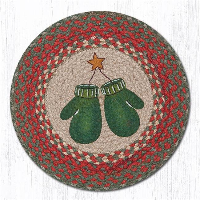 Capitol Importing 57-252M 15 in. Mittens Round Printed Placemat Rug