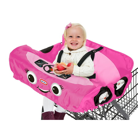 Little Tikes Princess Cozy Coupe Shopping Cart & High Chair Cover - Pink The Little Tikes Princess Cozy Coupe Shopping Cart & High Chair Cover is a parenting must-have! The Princess Cozy Coupe Shopping Cart & High Chair Cover is a Little Tikes product that exemplifies the Little Tikes mission to deliver innovative children's products. This shopping cart cover provides and extra layer of protection from filthy shopping carts which are exposed to E-coli and other dangerous bacteria's. Made of a soft, light weight material, this cart cover will be comfortable for your child and added a bonus play feature of having the child feel she is sitting inside her own car (Princess Cozy Coupe)! An added squeaky horn adds play and fun to ensure your child enjoys their time while in the shopping cart. This also works on most restaurant high chairs!