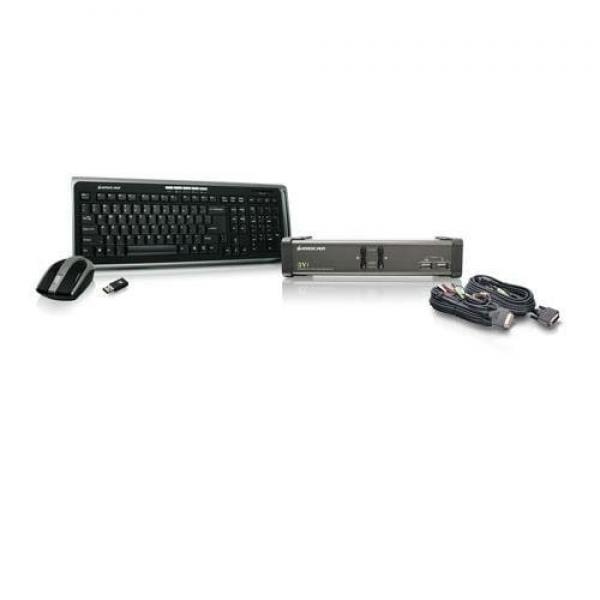 Iogear 2-Port DVI KVMP Switch USB 2.0 Console, USB Periph...
