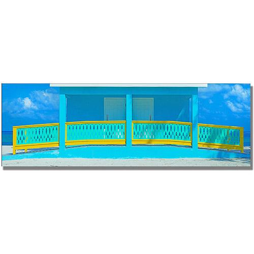 "Trademark Art ""Cayman Beach House"" Canvas Wall Art by Preston"