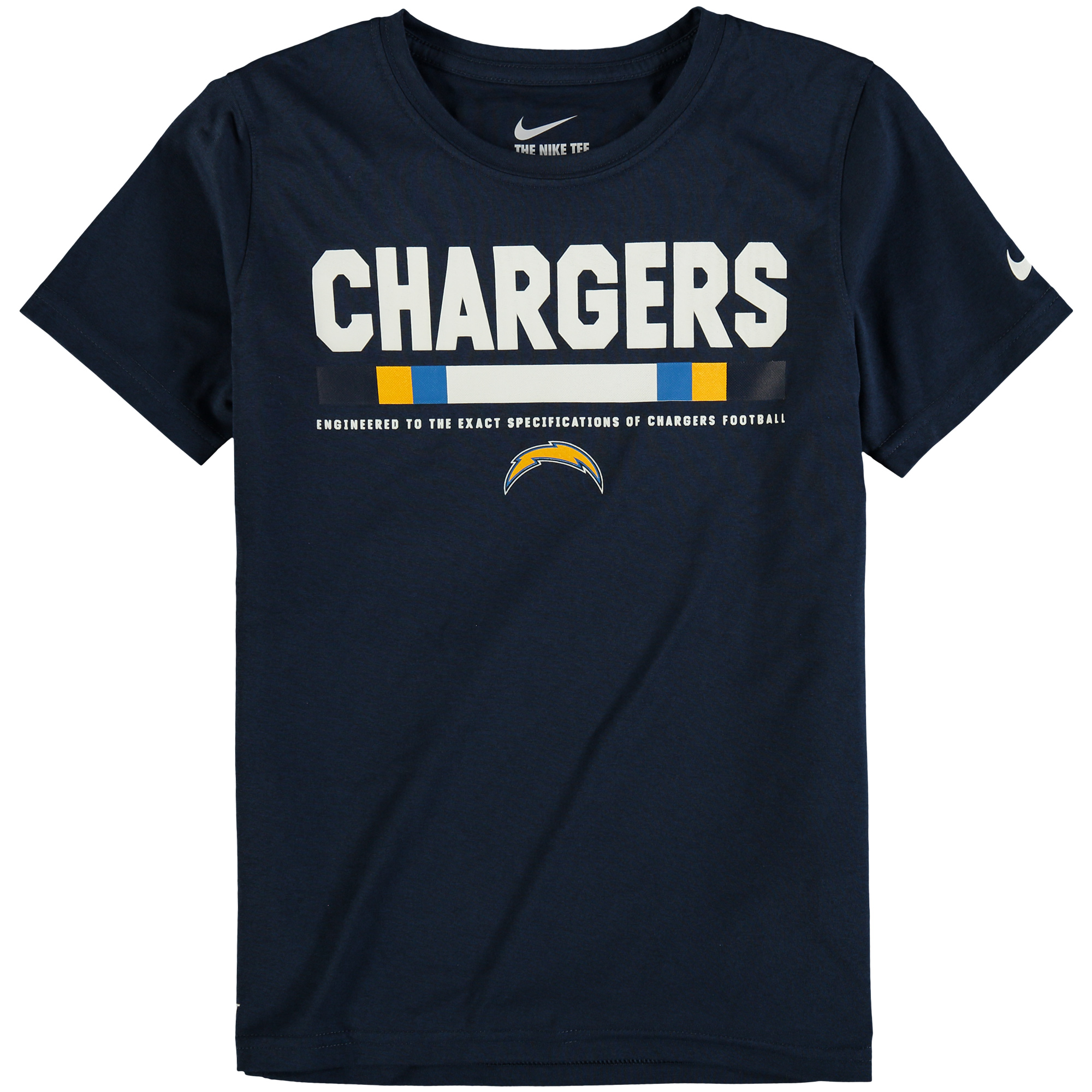 Los Angeles Chargers Nike Youth Legend Staff Performance T-Shirt - Navy