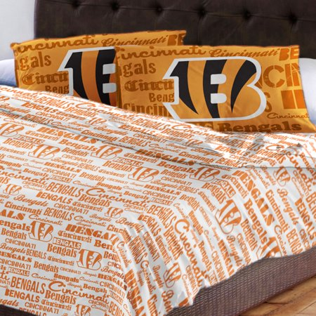 NFL Cincinnati Bengals Bed Sheet Set Football Team Anthem Bedding Accessories