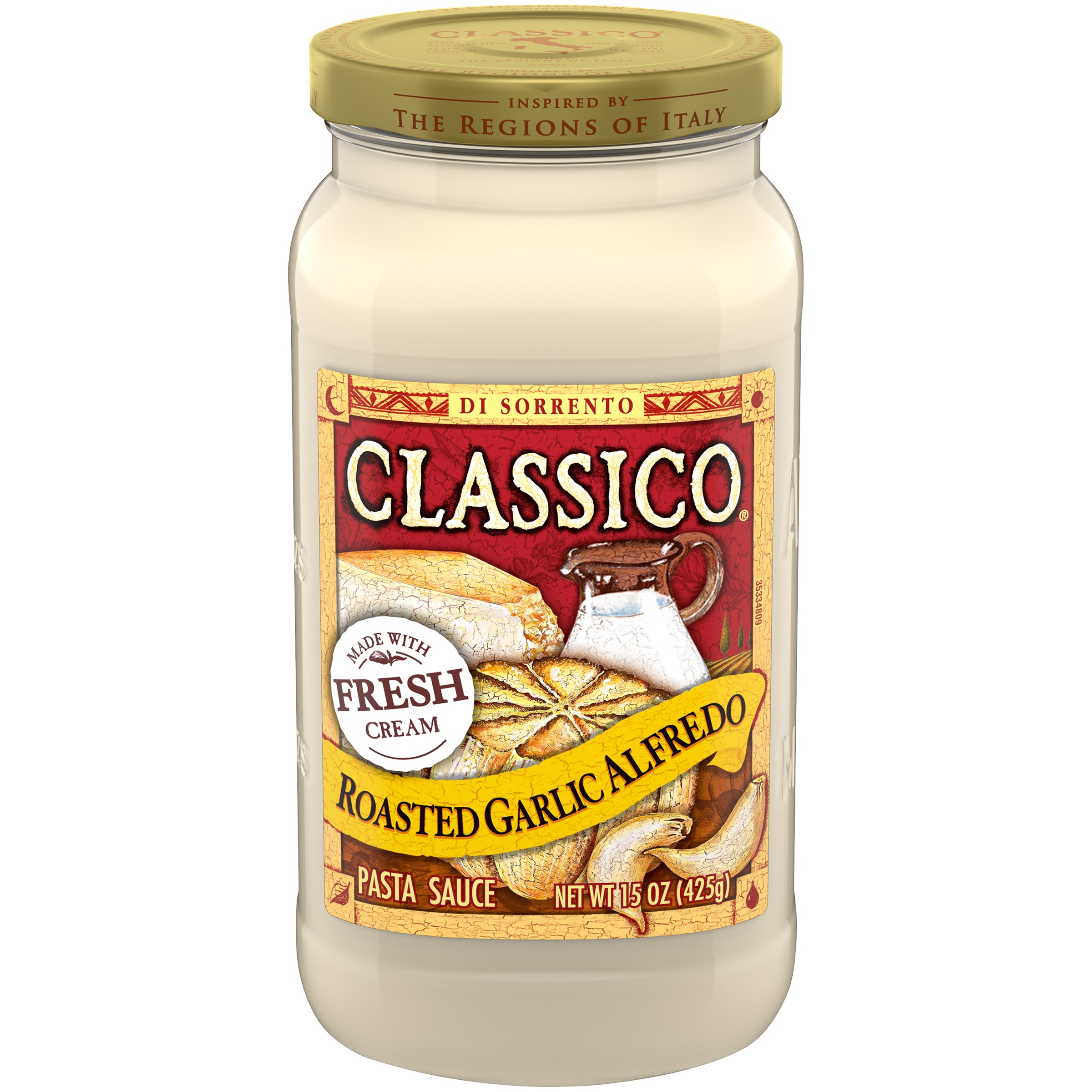 Classico Roasted Garlic Alfredo Pasta Sauce 15 oz. Jar