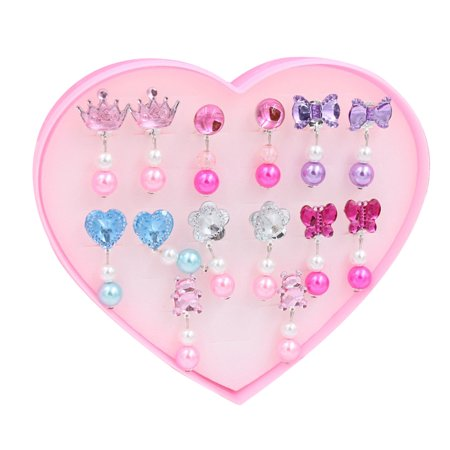7 Pairs Kids Clip-on Earrings Girls Play Ear Clip Decorations Party Favors - Goddess Clip Earrings