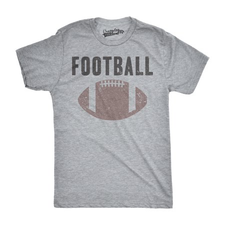 Mens Vintage Football Text Sports Distressed Football Laces Sporty T shirt