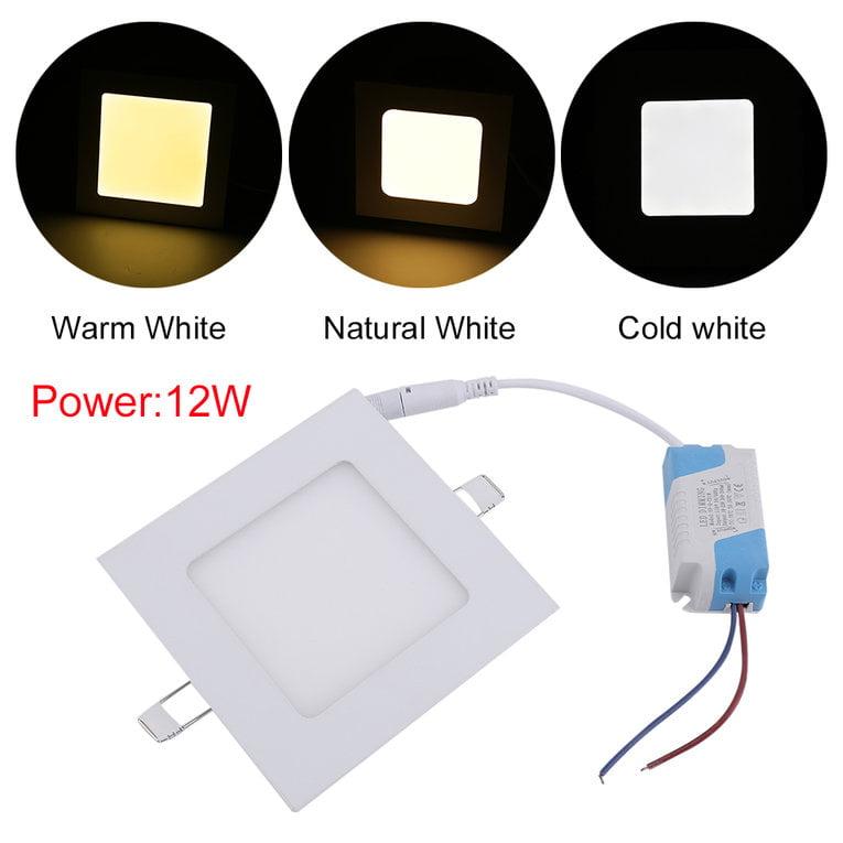 Square 10pcs 12W LED Recessed Ceiling Panel Down Light Bulb Lamp 85-265V