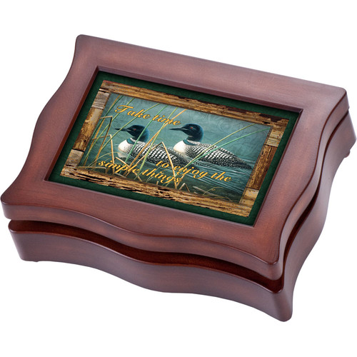 Cottage Garden Wildlife Digital Ducks Music Jewelry Box