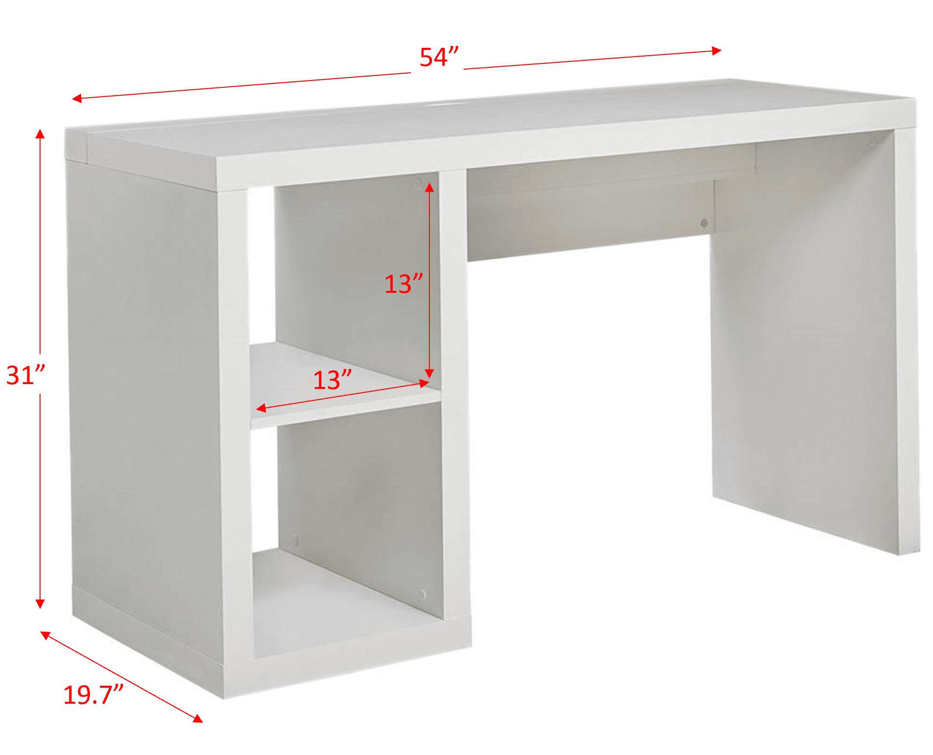 Better Homes & Gardens Cube Storage Organizer Office Desk, Multiple Finishes
