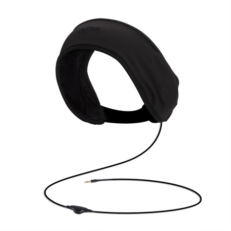 AGPTEK Sleep Headphones Soft Lycra Mesh Lining with Volume Control and Bag for Sleeping, Sports, Air Travel, Black