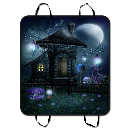 PHFZK Moon Pet Car Seat Cover Night Scenery With A Fairy