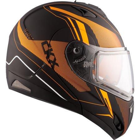 Snowmobile Helmet Modular Flip Up CKX Tranz RSV Recharge Orange Black Large Matte Orange L #512254